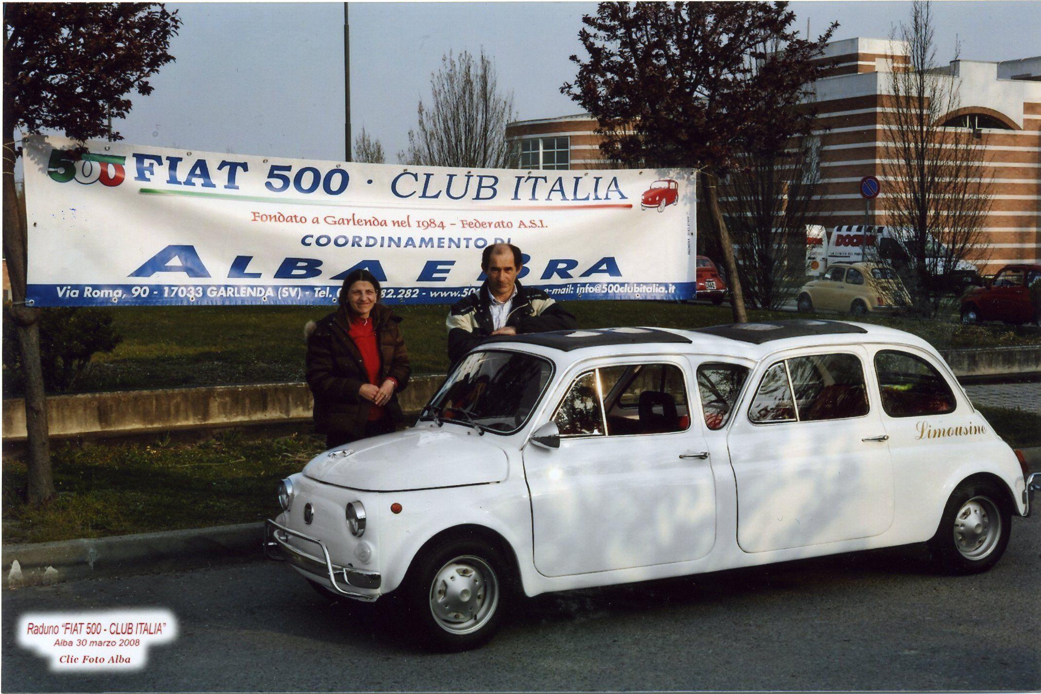 fiat 500 limousine during a fiat 500 club italia meeting fiat4fun pinterest fiat cars and. Black Bedroom Furniture Sets. Home Design Ideas