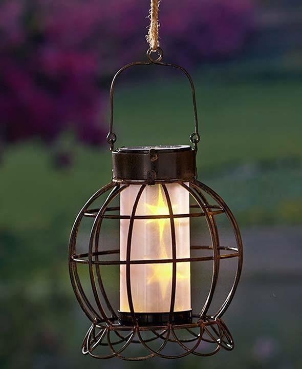 Rustic Solar Natural Garden Lantern Hanging Or Tabletop Garden Decor Lighting Tbd Solar Garden Lanterns Garden Lanterns Solar Lanterns