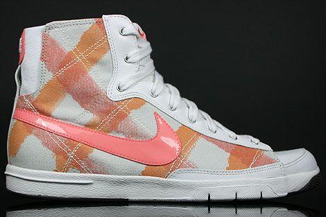 39bc61b19377 Nike Womens Blazer Mid Plaid - GREY ORANGE PEACH WHITE SNEAKERS ...