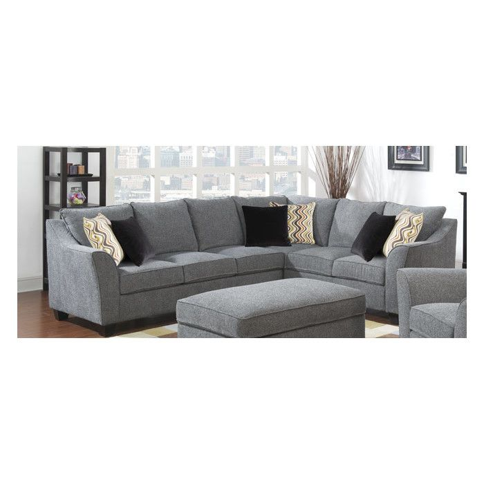 emerald home furnishings calvina sectional  living room