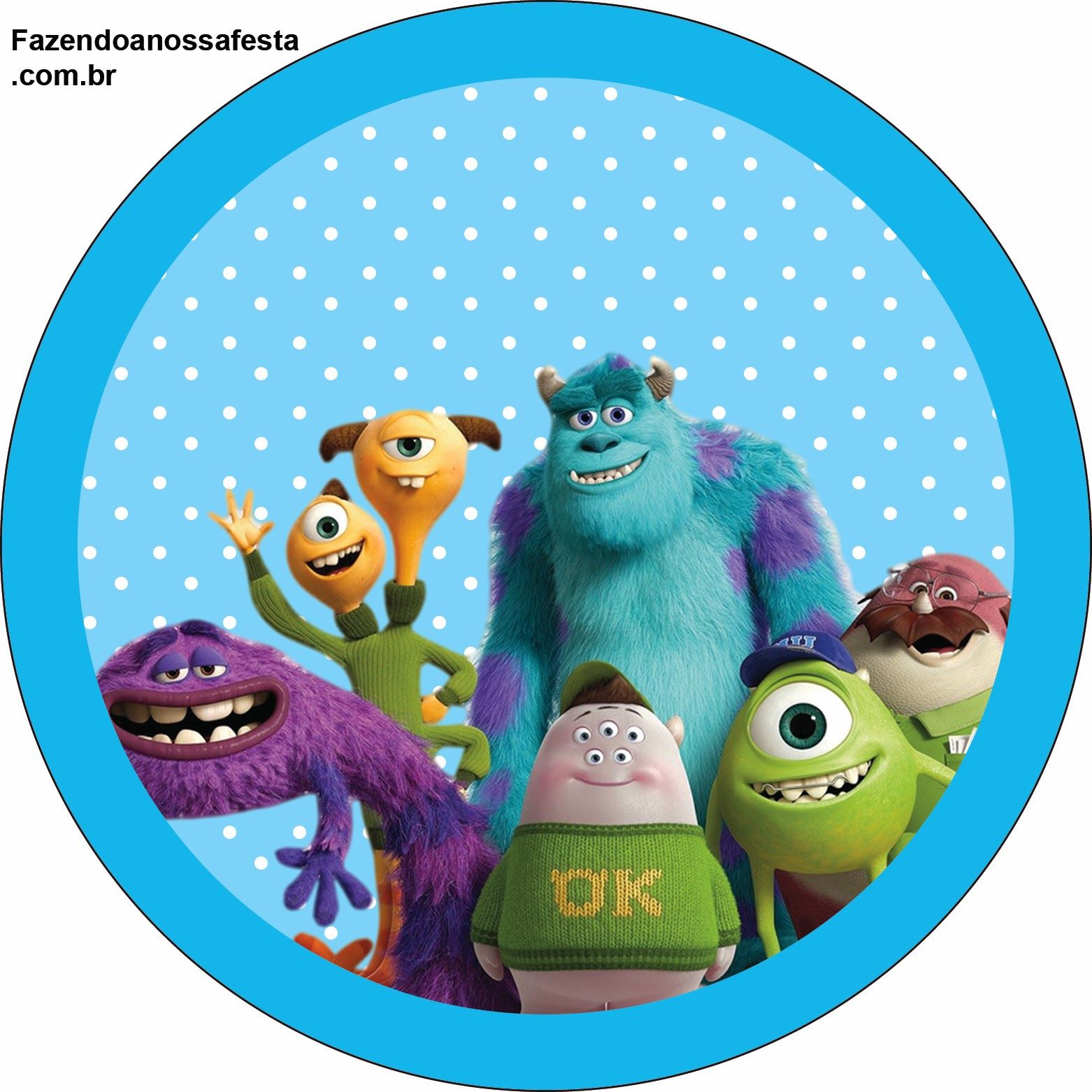 Monster University Free Printable Labels And Toppers