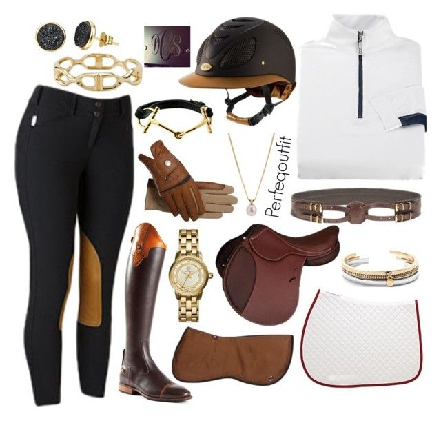 """Just riding"" by ponylover42 ❤ liked on Polyvore featuring Other, H.AZEEM, Tory Burch, J.Crew and Hermès"