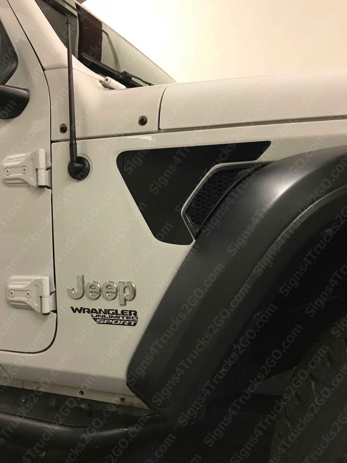 2pcs Jeep Wrangler Sahara Rubicon 2018 Fender Vent Blackout Vinyl Decal Sticker Graphic 2018 Jl Jlu Jeep Wrangler Sahara Wrangler Sahara Jeep Wrangler [ 1600 x 1200 Pixel ]