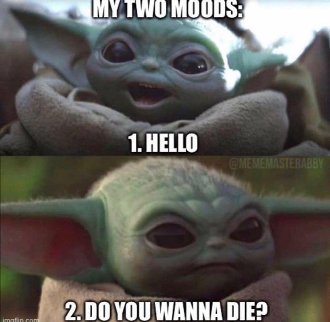 Baby Yoda Grogu Yoda Funny Funny Star Wars Memes Star Wars Humor