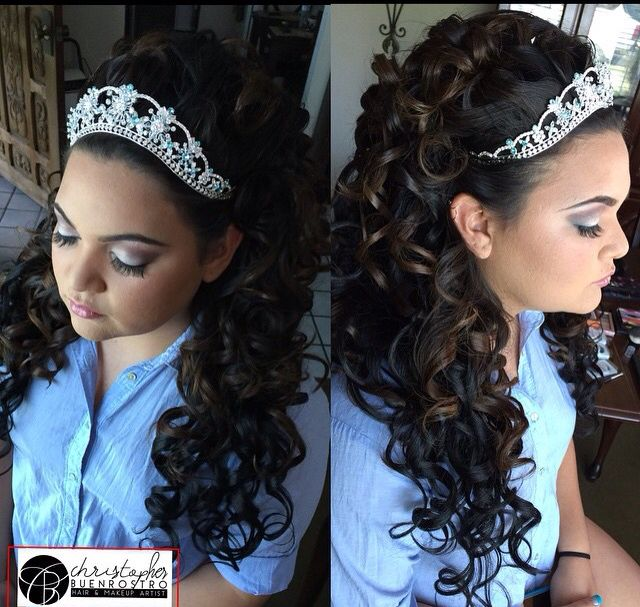 Quince Hairstyles quince hairstyle Christopherbuenrostro Buenrostrochristopher Glambychristopher Glambychristopher Quinceanerahairstyles Hairstyles Hair Quincehair Quinceanera