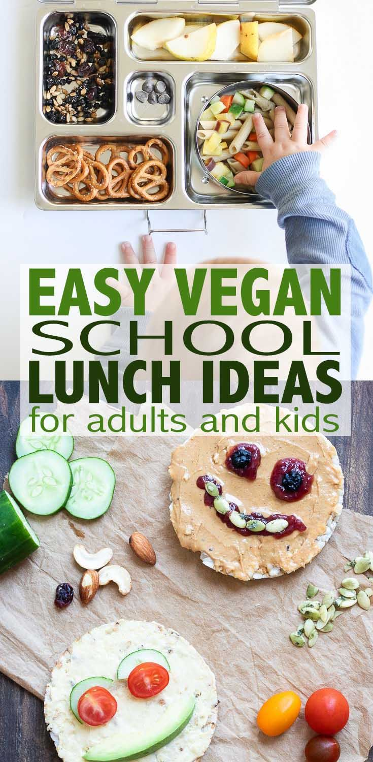 Plant Based Vegan School Lunch Ideas- Individual instructions