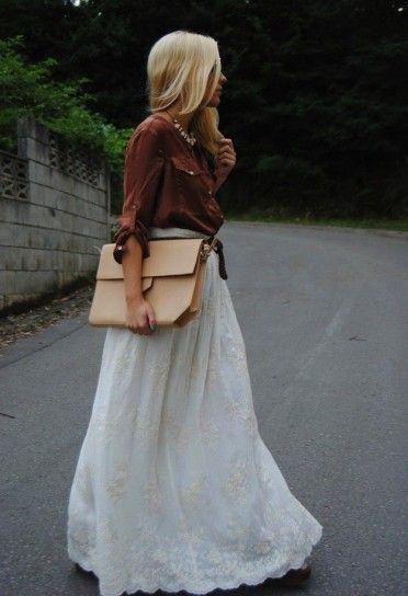 Faldas Google Largas Blancas Con Buscar Ibicencas 0q0rw81