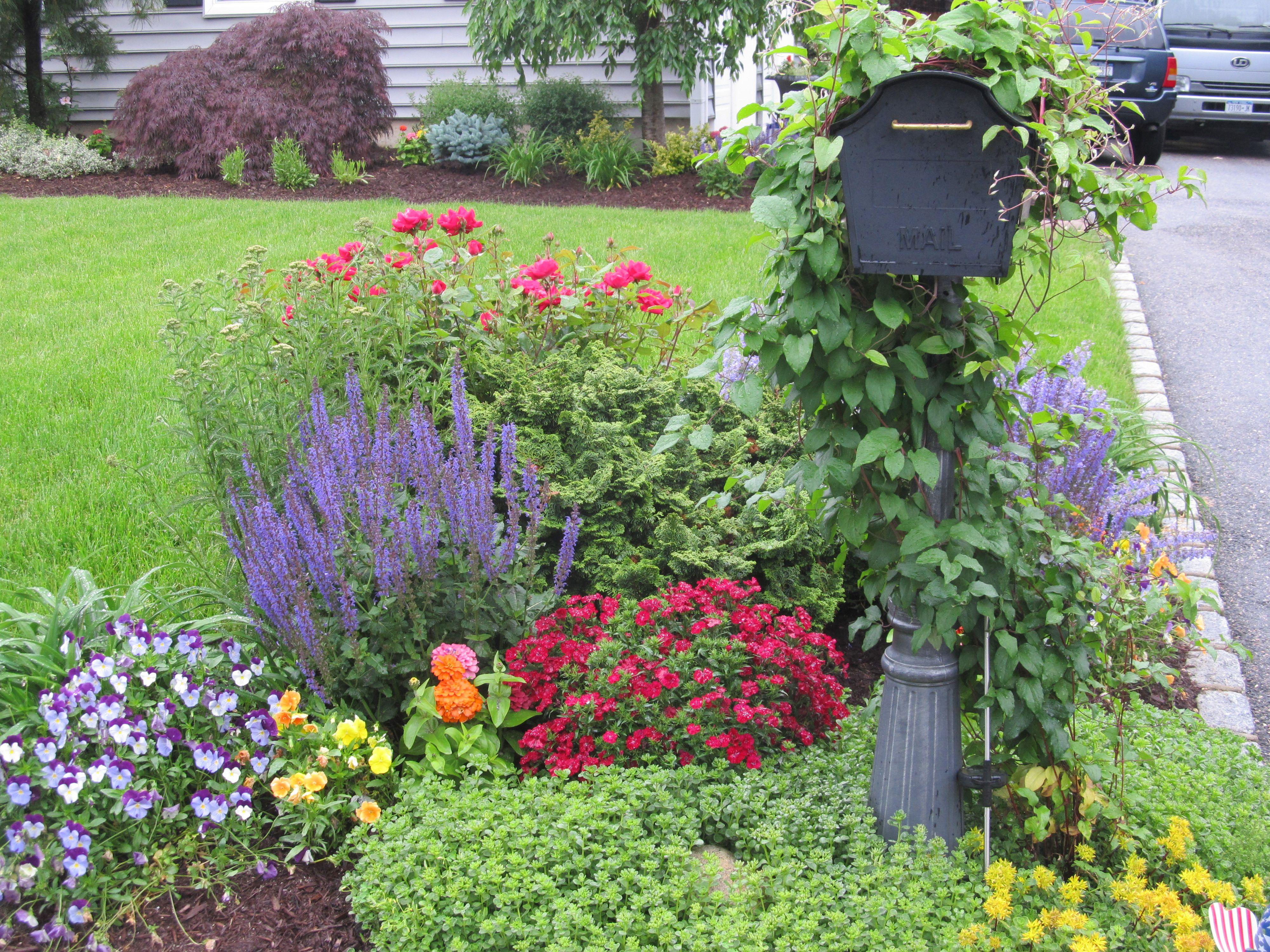 perennial mail box garden mailbox