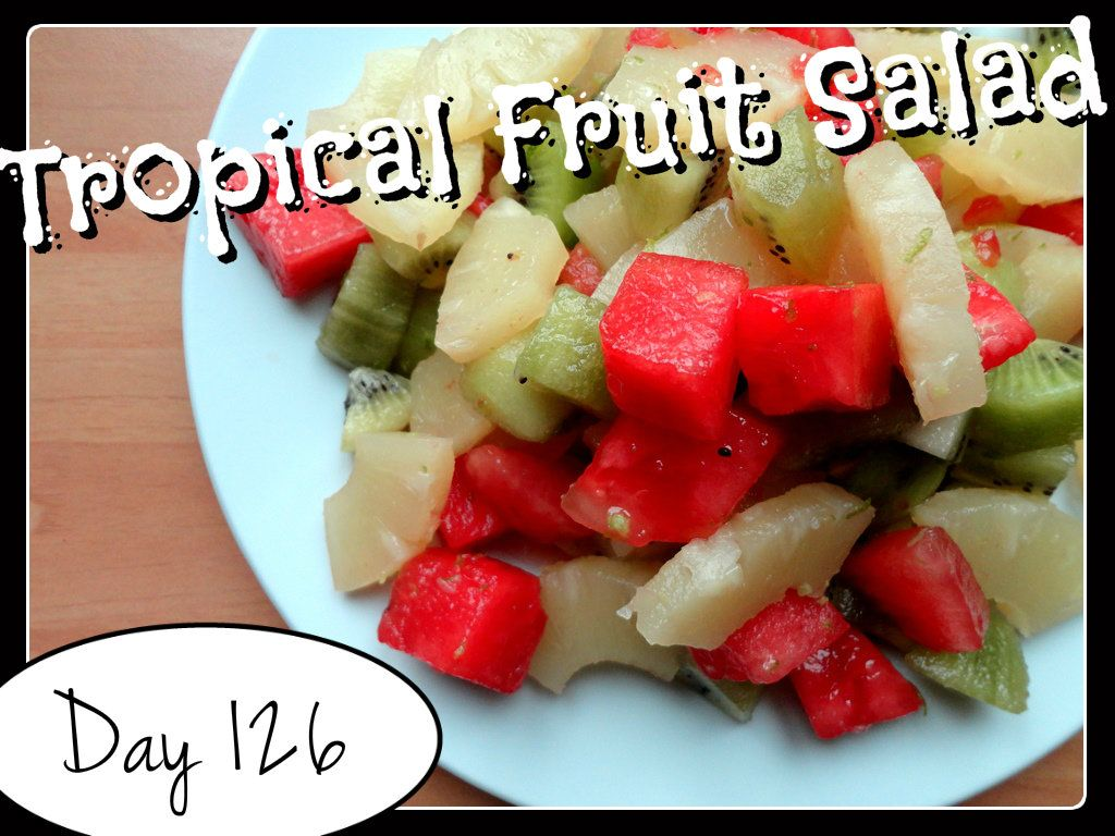 Tropical Fruit Salad Recipe [DAY 126] ★ watch the video: https://www.youtube.com/watch?v=ZyWDShk_RjQ&list=PLGRnDhMJALhGSPvJl_zKgtNg2YZPaYf1S&index=1 ★  I'm trying A NEW RECIPE OF Laura in the Kitchen EVERY DAY and sharing its conversion into the metric system, come and join me on my yummy challenge! :)