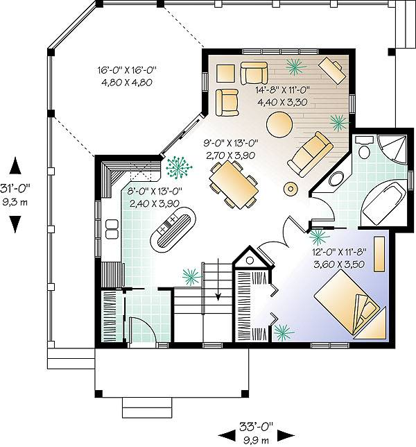 Country One Story House Plan With Open Concept And Fabulous Deck Victorian House Plans Cabin House Plans Log Cabin House Plans