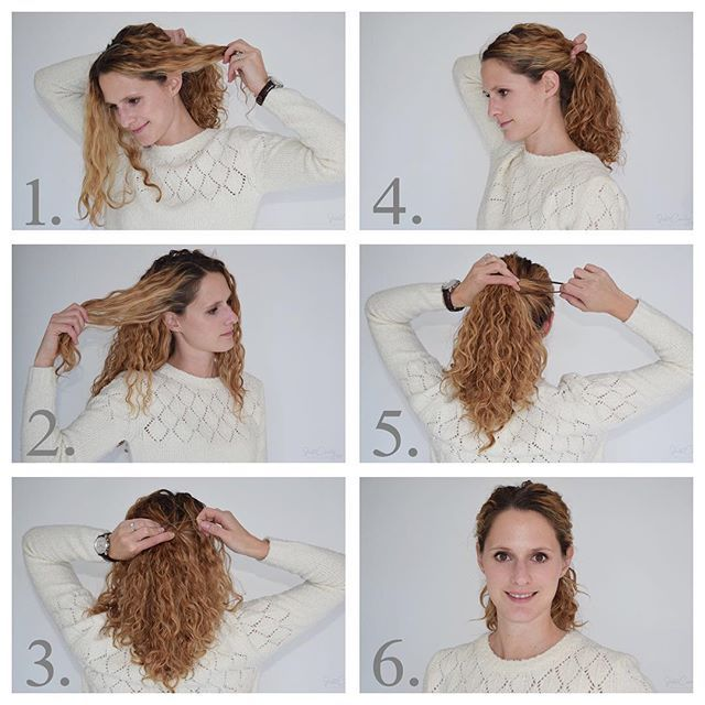 How To Pull Back Curly Hair Without Destroying Your Curls Curly Hair Styles Hair Curly Hair Ponytail
