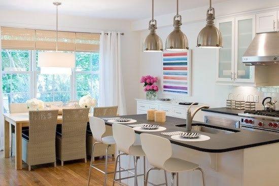 Cucina angolare moderna bianco opaco con penisola rovere moro ...