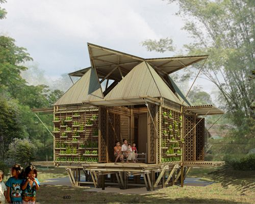Low Cost Bamboo Housing In Vietnam By H P Architects With Images
