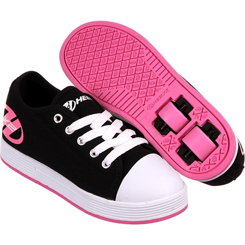 Heelys Juniors X2 Fresh Trainers Black//Pink