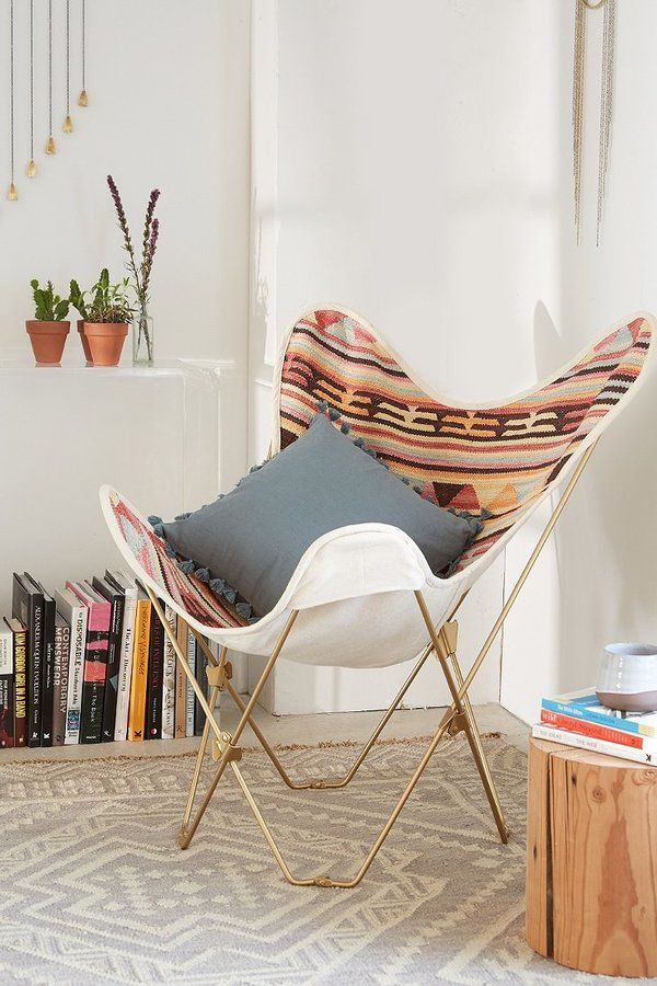 Shop Bobo Kilim Butterfly Chair Cover At Urban Outfitters Today