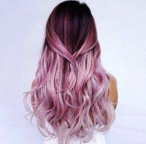 27 Pretty Rose Pink Hair Color Ideas Page 7 Of 26 Top Trendy Hairstyles Hair Styles Long Hair Styles Summer Hair Color