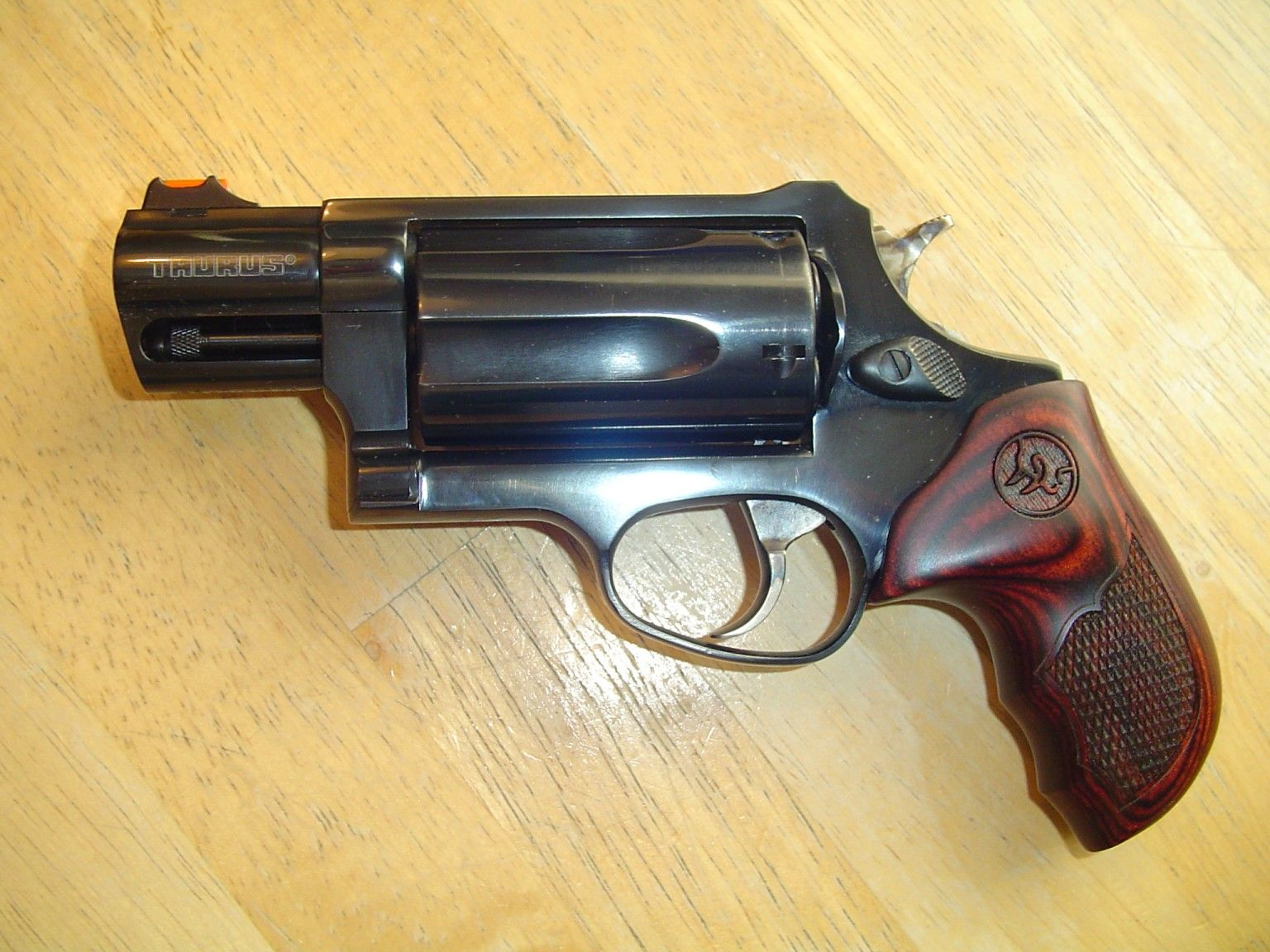 Taurus Judge in  45 Colt/ 410 with really classy wooden grips | Bear