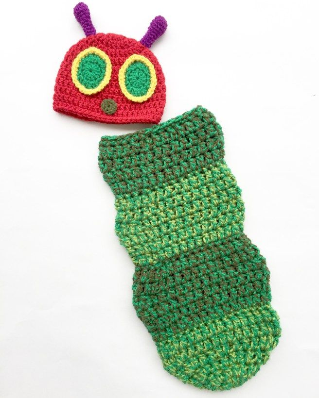 Baby Caterpillar Cocoon Crochet Free Pattern
