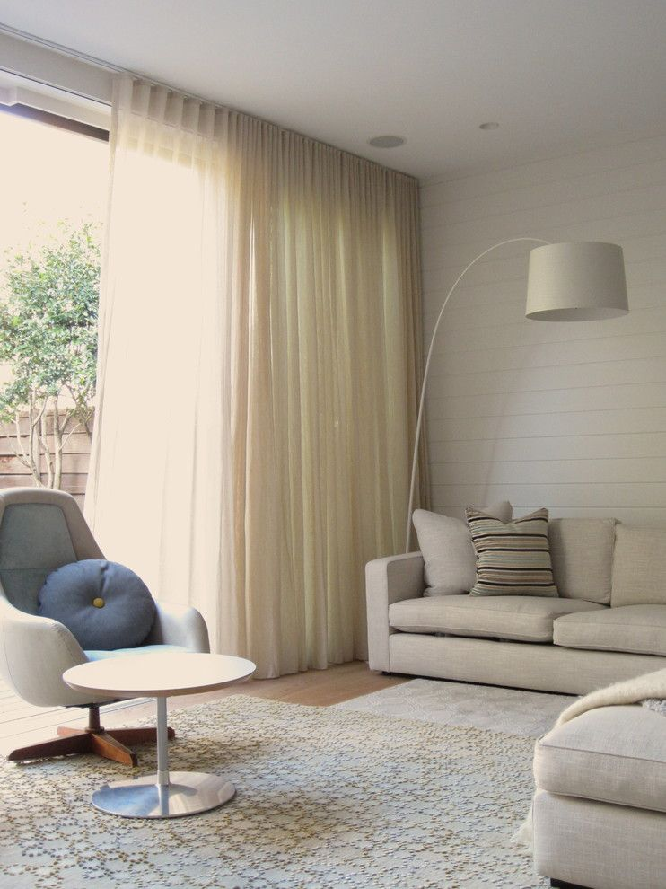 Good Looking Ceiling Curtain Track Convention Sydney Contemporary Living Room Decorating Ideas With Armchair Beadboard Bright