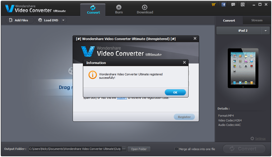 free download wondershare video converter ultimate with serial key