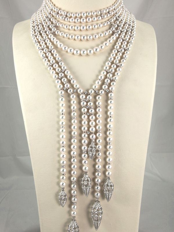 ef05890d40e9 High end Jewellery in Mikimoto pearl diamond necklace