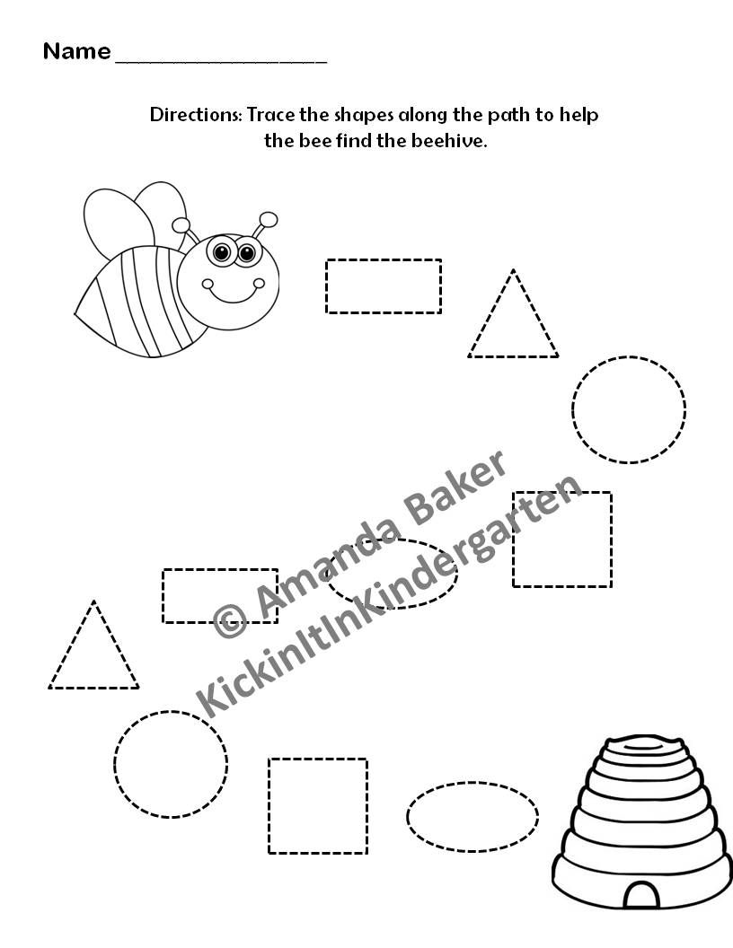 Counting shapes worksheet 3 Shapes worksheets