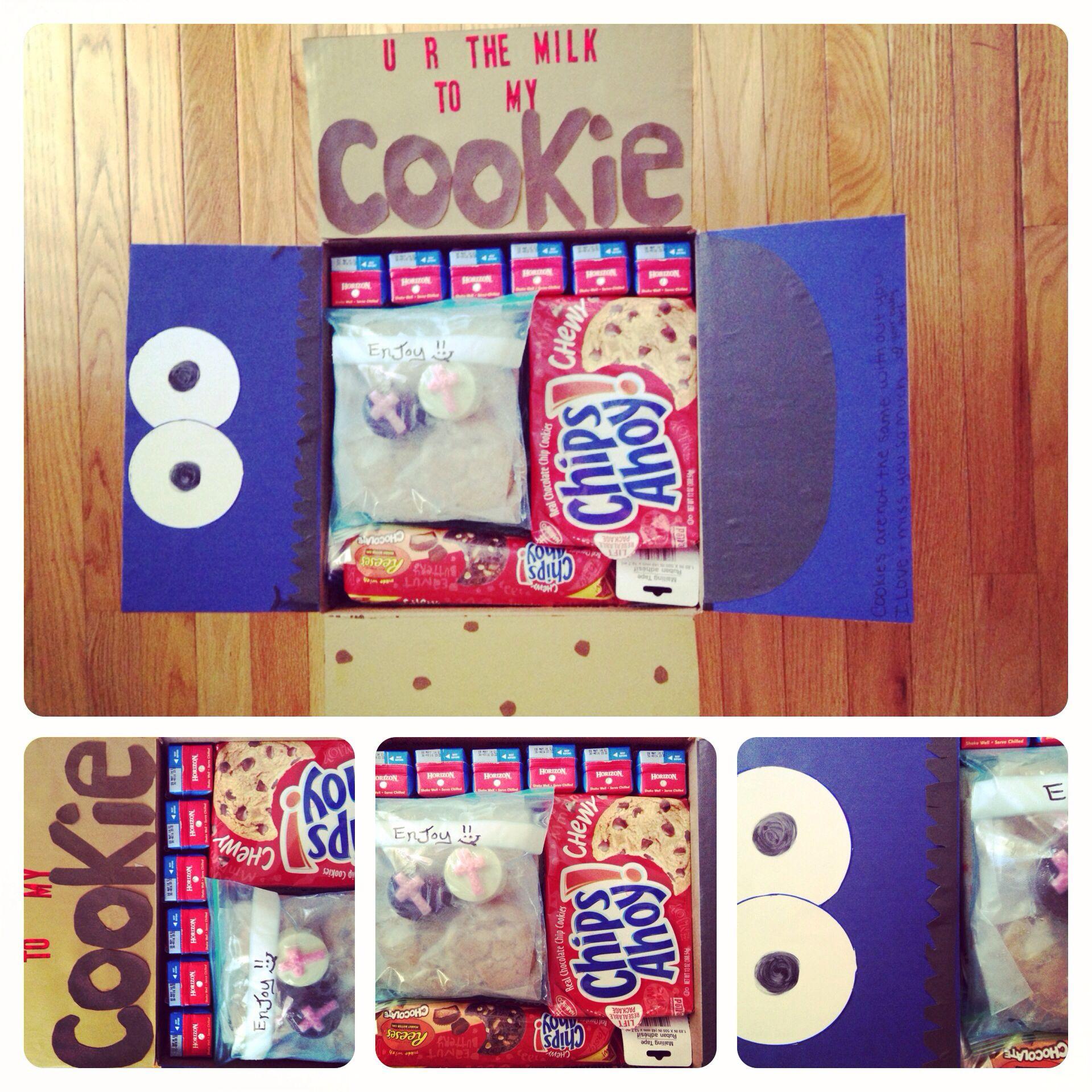 Milk and cookies care package ...jays favorite things ... Package #3