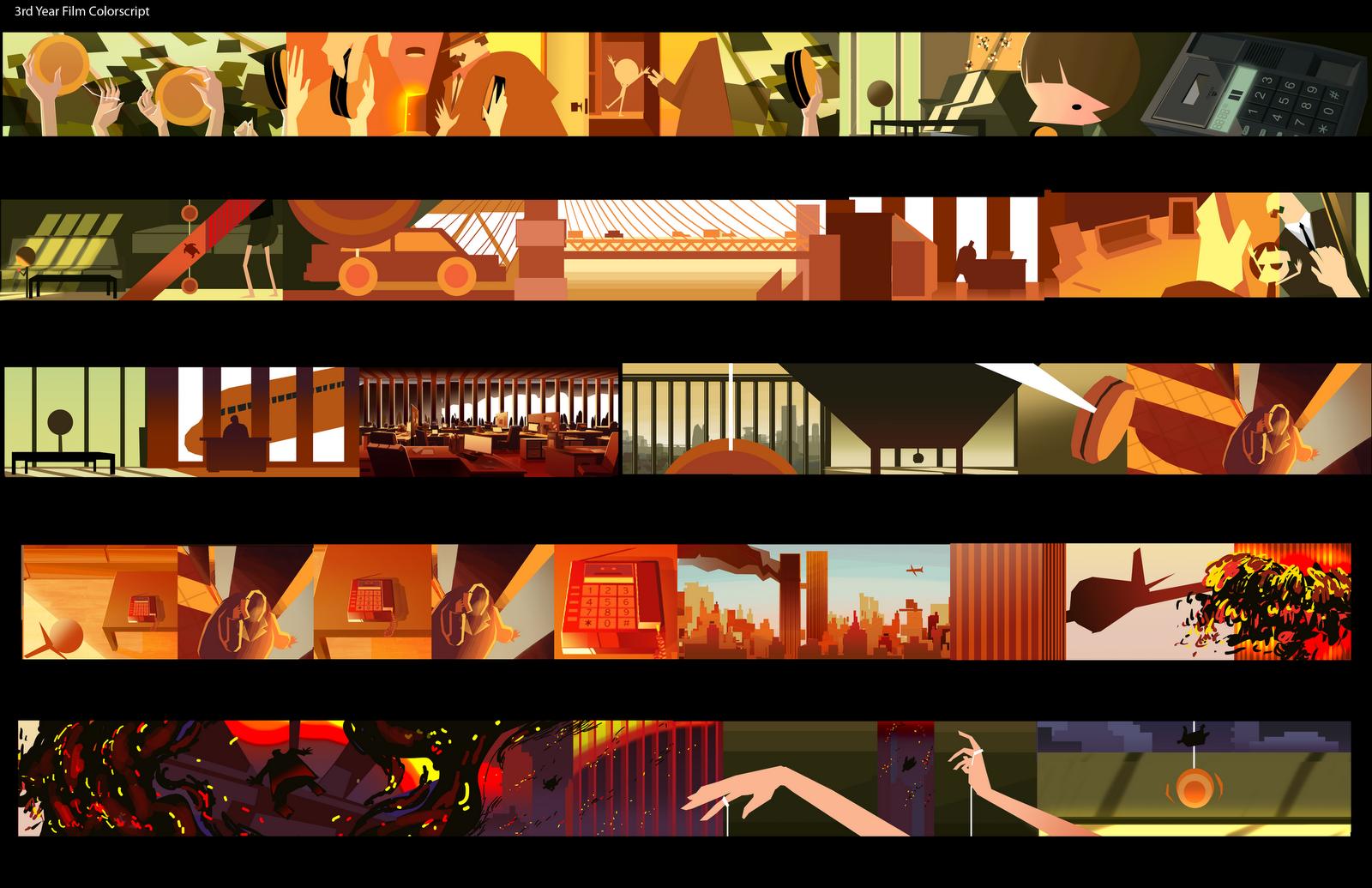 Eusong Lee  Color Scripts    Color Script Storyboard