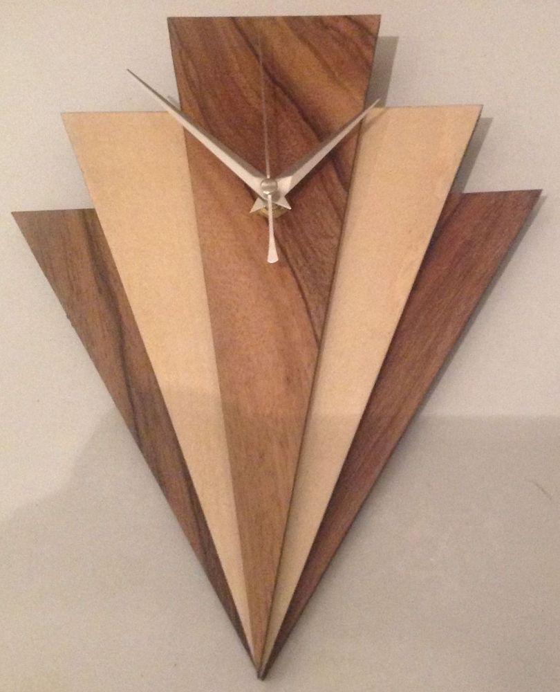 Art Deco Style Wall Clock Ebay Clock Wall Art Clock Art Wall Clock Art Deco