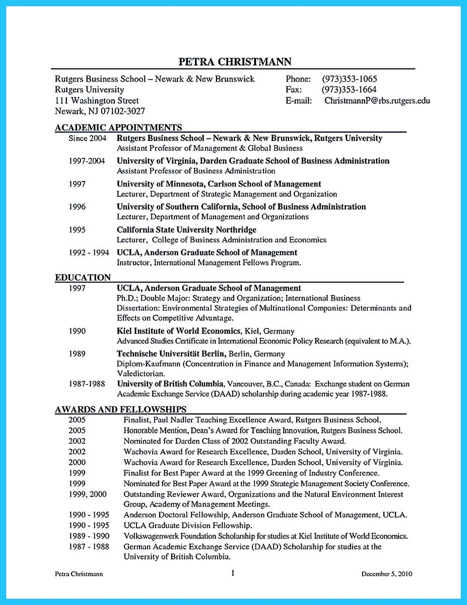 Business Management Resume Cool The Most Excellent Business Management Resume Ever Check
