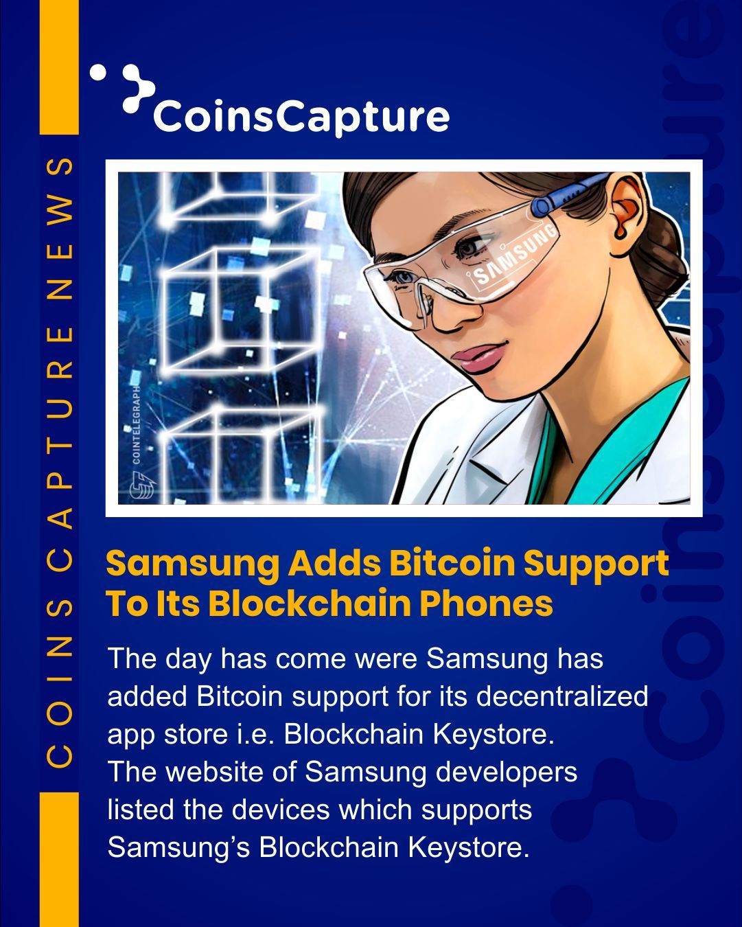 News of the day:  Samsung Adds Bitcoin Support To Its Blockchain Phones #cryptonews #dailynews #newsalert #dailymotivation #wednesdaywisdom #wednesdaythoughts #retweet #blockchain #samsung #bitcoin #follow4followback #followback