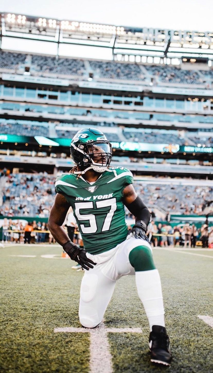 C.J. Mosley New York Jets Game Jersey - Green