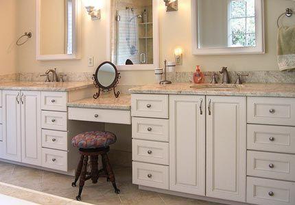 Multi Level Vanity Bathroom Vanity Makeover Bathroom Vanity Vanity