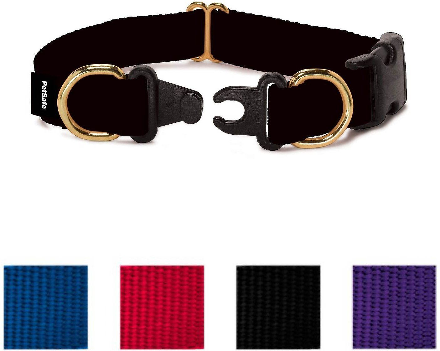 This collar is designed to prevent strangulation accidents