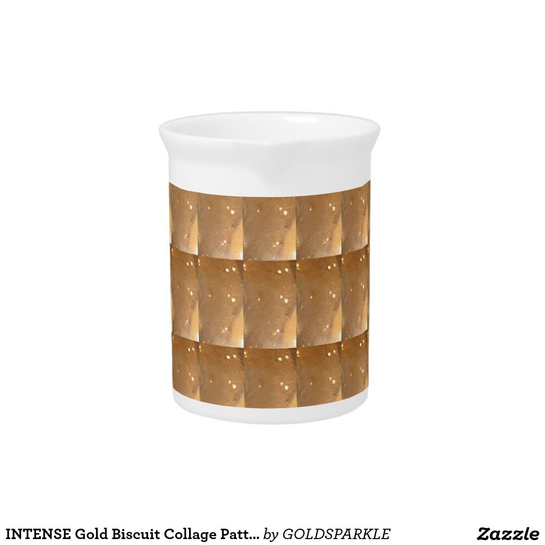 INTENSE Gold Biscuit Collage Pattern Graphic GIFTS Pitcher