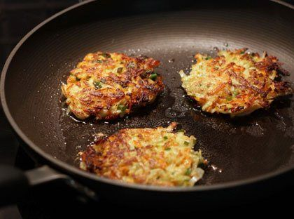 Kohlrabi and Carrot Fritters-make sure to use gluten free flour!