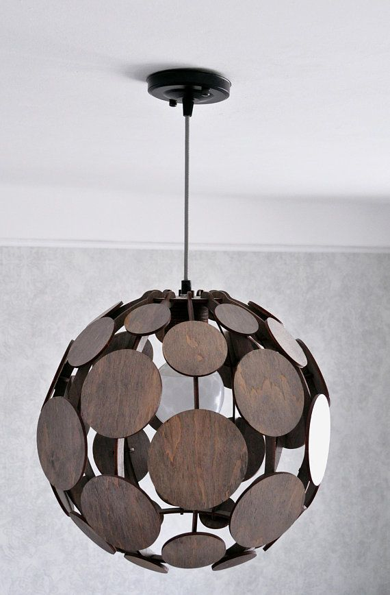Wood Pendant Lamp Shade Living Room Hanging Lamp Modern Etsy In 2020 Pendant Lamp Shade Wood Pendant Lamps Modern Lamp Shades