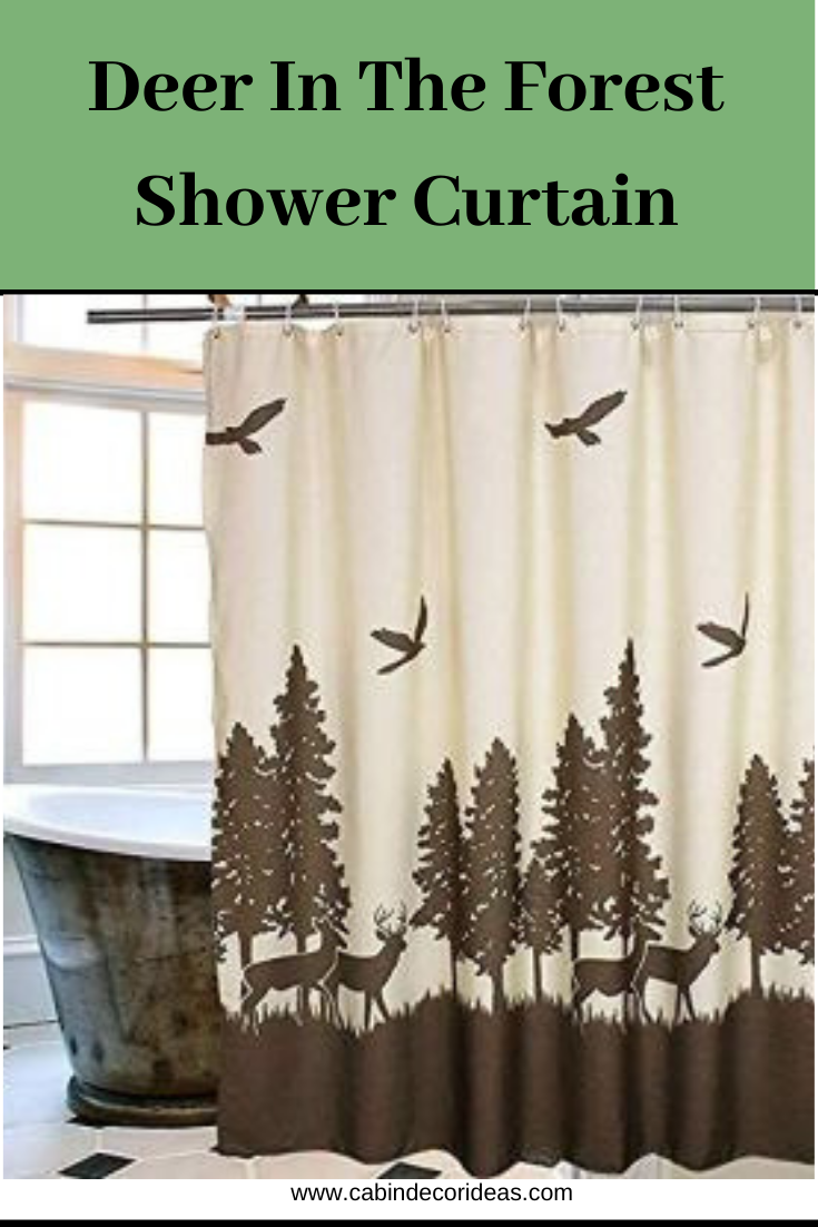 Deer In The Forest Shower Curtain Curtains Rustic Bathroom