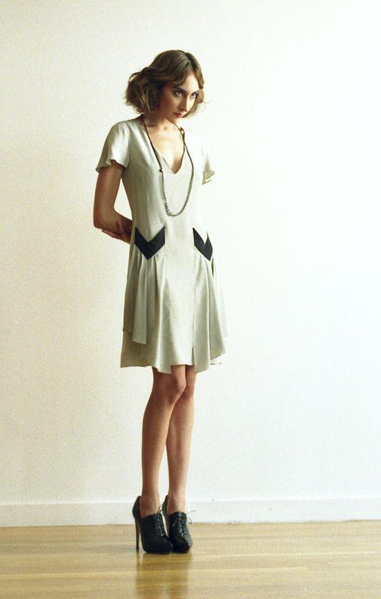 Deco Pocket Dress by Dona Monroe.