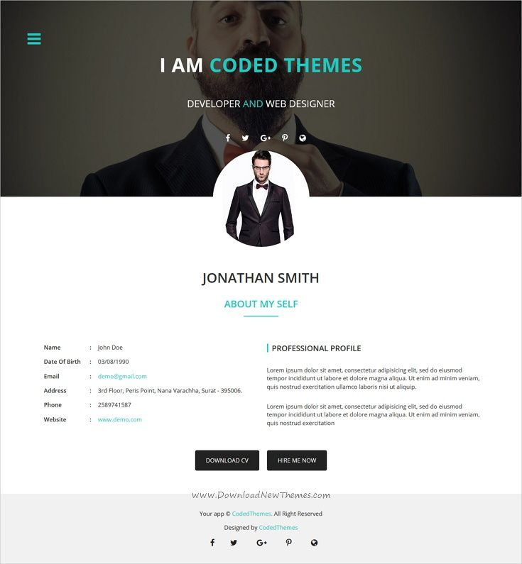 MrLancer 2 Personal CV\/Resume template Template for resume - bootstrap resume template