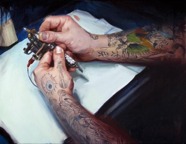 Tattoo Paintings By Shawn Barber Shawn Barber Artist At Work Tattoo Machine