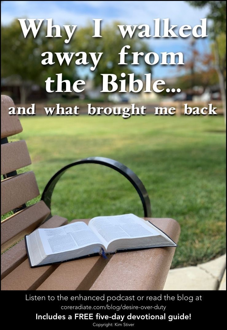 Why I Stopped Having a Daily Quiet Time and the Desire that Brought Me Back Have you ever hit a dry spell in your walk with Jesus Has diving into the Word ever lost its a...