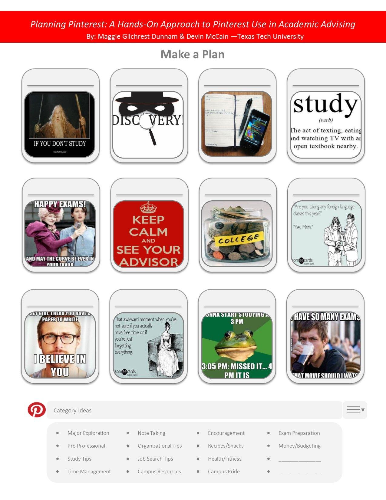 Planning Pinterest Handout
