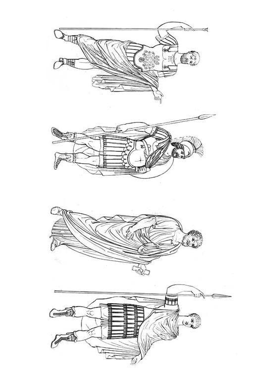 Coloring page Roman man - img 9423. | Ancient Roman Empire ...