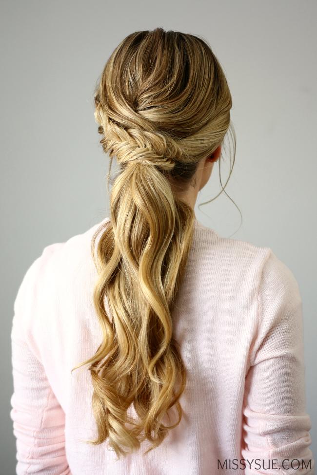 fishtail embellished ponytail