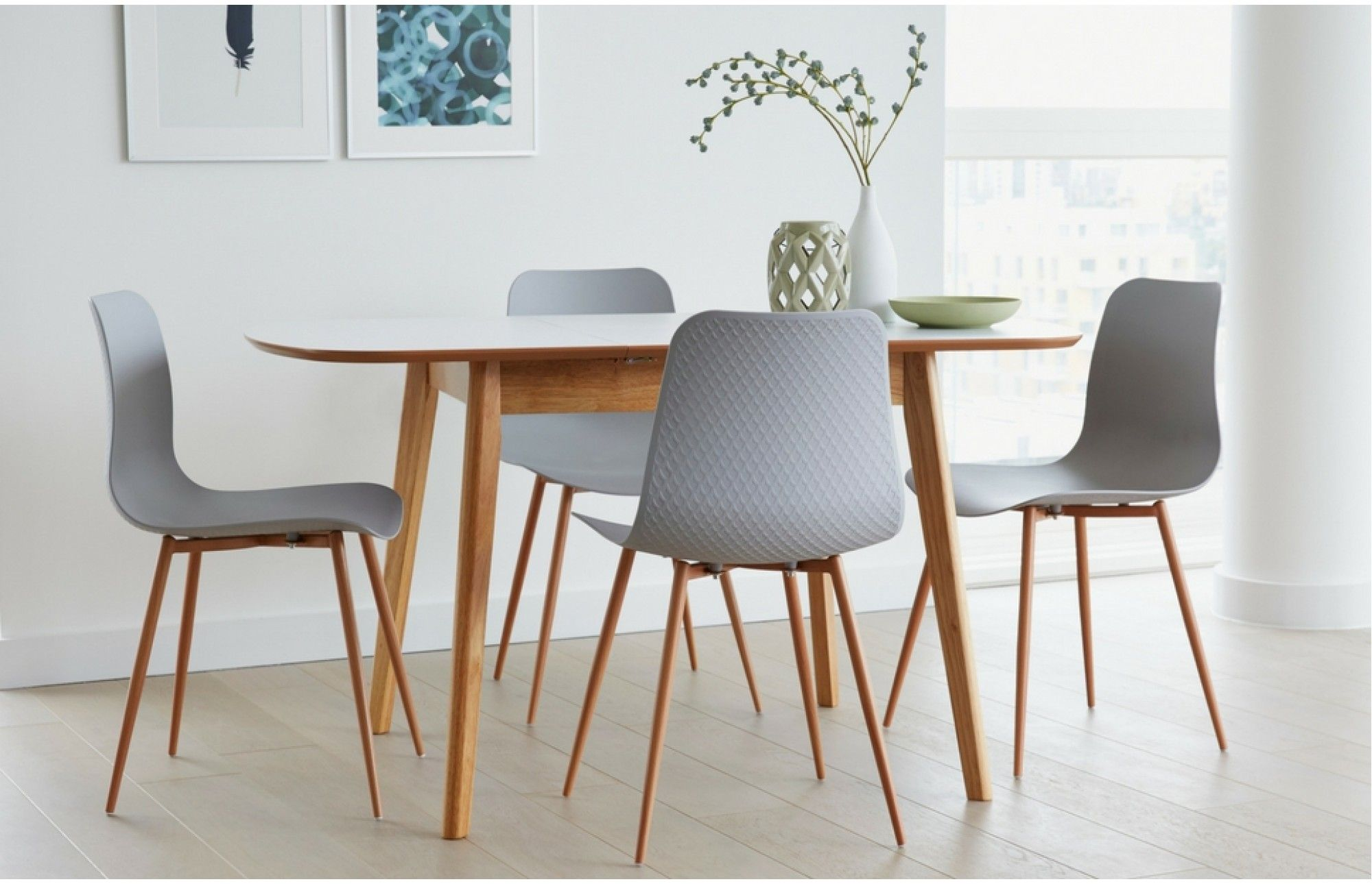 This Extendable Dining Set Showcases Contemporary Elegance