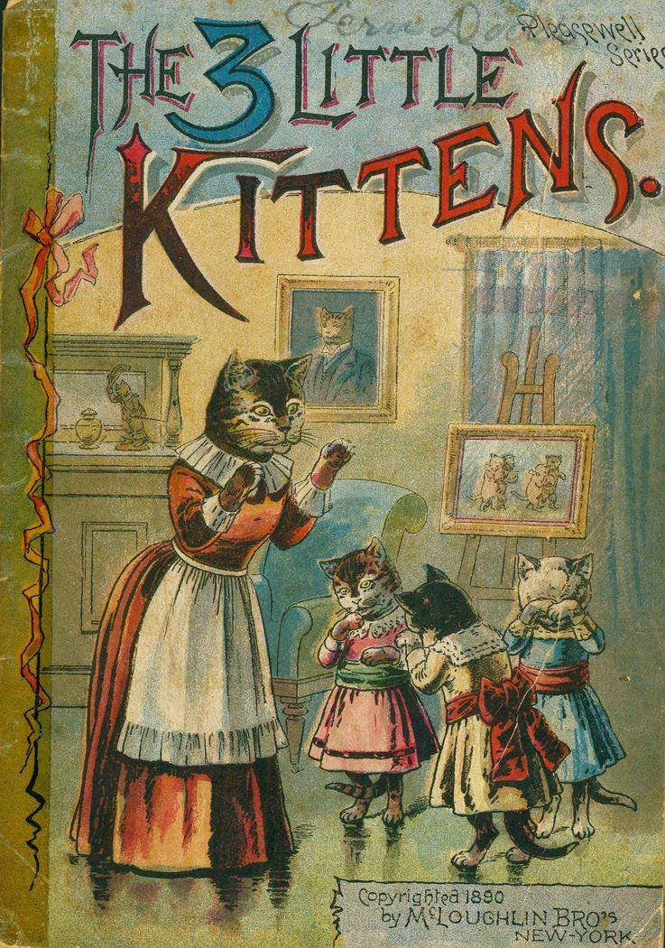3 Little Kittens Little Kittens Kittens Vintage Cat
