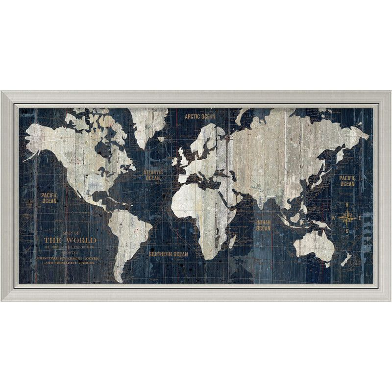 Amanti art old world map by wild apple portfolio framed graphic accentuate the look of your interior dcor with the striking visual aesthetic of this old world map wall art distressed look adds vintage character to bare gumiabroncs Image collections