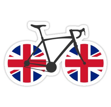 British Flag Cycling Sticker By Esskay British Flag Flag Vinyl Sticker