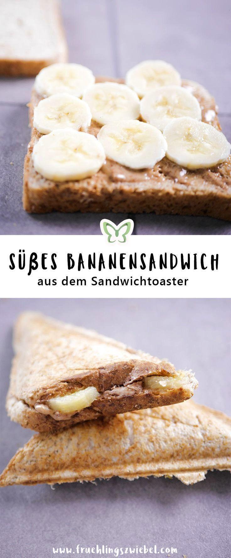#bananenerdussbuttertoast #einfacherezepte #sandwichmaker #kalorienarme #zubereitung #gefallen #abne...